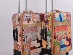 拉杆箱万向轮行李箱24寸卡通旅行箱 20寸登机箱 男女PU皮革密码箱