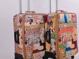 拉杆箱万向轮行李箱24寸卡通旅行箱 20寸登机箱 男女PU皮革密