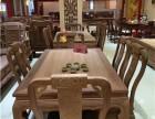 红木西餐桌 雍王府缅甸花梨木龙腾西餐桌 餐厅红木家具