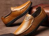 厂家直销新款夏季男士头层牛皮真皮鞋透气休闲鞋男鞋懒人鞋批发