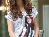 批发韩版冰丝个性长款T恤厂家批发最便宜最热销新款T恤