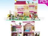 博乐 女孩系列friends儿童益智拼装积木玩具 奥莉薇亚的房子