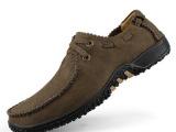 现货批发真皮特大码男鞋45 46 47男士低帮系带日常休闲单鞋皮