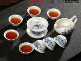 厂家直销功夫茶具订做广告茶具礼品陶瓷白瓷茶具套装可定制印logo