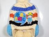 爆款儿童针织帽秋冬儿童帽子双层加绒帽子爸爸去哪儿主题保暖帽子