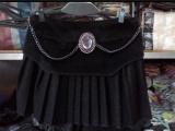 2014春装半身裙镶钻半身毛呢短裙 百褶