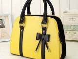 厂家直销 新款品牌女包单肩 韩版时尚蝴蝶结手提包包 一件代发