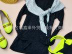 【日本原单】外贸原单女式波点长袖T恤 假两件套 打底衫 针织衫~