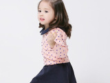 双奇莱 韩版春款童裙套装 韩国纯棉波点淑女风短裙 春夏裙套装