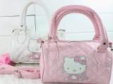较新款 女包Hello Kitty高档PU牛仔迷你手提包 斜跨包