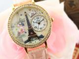 韩国mn软陶手表女款潮流时尚女士水钻高档品牌埃菲尔铁塔手表学生