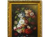 古典欧式花卉手绘油画 室内装饰餐厅客厅 高品质油画0001