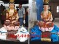 河南云峰佛像厂家订做1.7米文殊普贤菩萨神像 树脂彩绘 雕塑