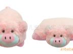 供应金洋创意 填充毛绒玩具公仔动物变型大抱枕头粉红布娃娃小猪