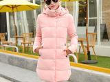 2014冬季新款韩范女士棉服中长款连帽棉衣外套女式多色爆款批发