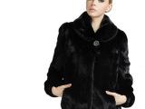 厂家直销 2014冬装新款整貂皮草水貂女短款纯黑色裘皮