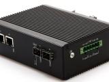 千兆2光2电工业级POE交换机IP40等级防护双电源直流供电