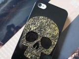 厂家直销热卖复古骷髅头iphone4 4S苹果5 手机壳 超薄保