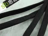 厂家直销黑色环保空芯扁绳  黑色扁鞋带 涤纶扁绳