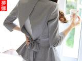 休闲小西装女短外套 2015春夏新款韩版七分袖显瘦短款亚麻外套