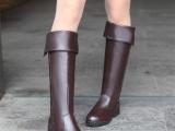 女鞋批发厂家直销2013冬季新款过膝靴欧美英伦平跟女靴子大码