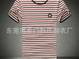 2015新款男士短袖t恤韩版修身男式短袖条纹t恤棉男装大码一件代