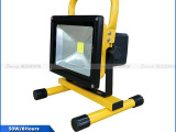 LED充电投光灯手提式探照灯车载应急灯工地移动照明50w户外