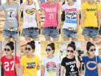 2015爆款外贸女士T恤潮韩版纯棉女T恤女装女式短袖t恤一件代发