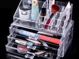 厂家定制批发 桌面化妆品收纳盒 创意透明塑料盒 亚克力化妆盒