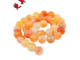 花玛瑙 红白玛瑙 天然红玛瑙串珠散珠 饰品配件批发 水晶天然石
