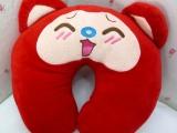 批发毛绒玩具 阿狸系列U型枕颈枕 办公室休闲枕 支持一件代发