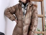一手货源新款羽绒服*女式长款羽绒服可脱卸帽加厚外套