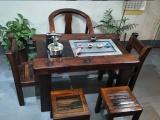 廠家直銷老船木茶桌椅組合客廳中式功夫茶桌沉船木泡茶臺