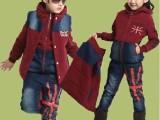 儿童装男童女童2014新款冬季童套装 韩版宝宝卫衣米子旗三件套装