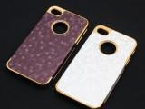 【热销】苹果iPhone4/4s 足球纹贴皮电镀外壳  4代手机
