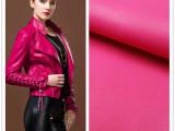 厂家直销春季新韩版女修身皮衣pu皮革 服装革水洗皮现货 人造革