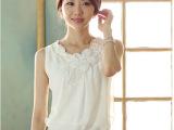 2014新款无袖背心吊带打底衫 褶皱白色雪纺衫 短袖衬衫女