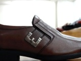 批发高档男装皮鞋休闲商务皮鞋 透气减震鞋