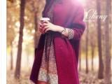 秋冬装新款外套女装韩版单排扣立领中长款羊绒加厚毛呢大衣女