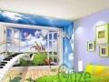 墙绘,手绘、墙艺背景画。