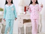 一件代发新款春秋季儿童睡衣女孩纯棉卡通长袖套装家居服诚招代理