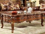 瑞福祥家具美式乡村实木茶几 欧美式带抽客厅储物桌咖啡桌P-241