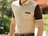 喜登鸟厂家热销新品 常熟男装男式短袖衬衫免费加盟可贴牌代发