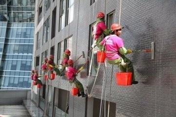 东凤高空清洗外墙 地板打蜡 找大家乐清洁服务公司