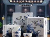 陶瓷韩式青花瓷碗餐具套装 套碗礼盒送礼碗 可印LOGO 礼品碗批