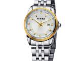 新品 艾奇女士手表钢带表带 韩国时尚女表石英表日历防水一件代发