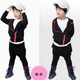 厂家外贸 2014韩版时尚秋新款 不对称翻领儿童两件套品牌男童套装