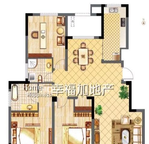 城市之光全新装修3房+电梯洋房+豪装50万+无税