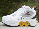 安格卢特 专利产品厂家批发变形鞋轮滑鞋双排旱冰溜冰滑冰鞋两用