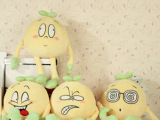 创意可爱毛豆米子毛绒玩具公仔玩偶4个表情朋友生日礼物一件代发